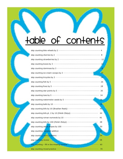 Skip Counting Packet: 2s, 3s, 5s, 10s and 100s Worksheet Printables