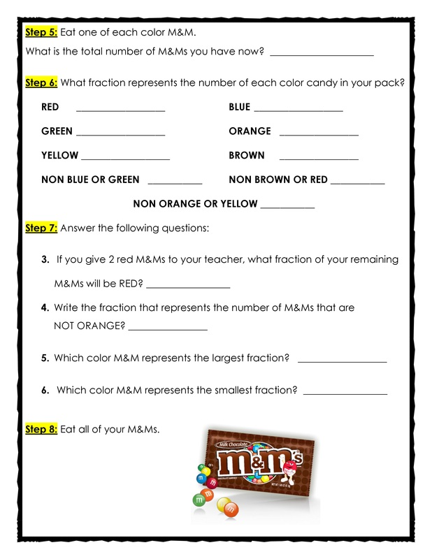 Fun Fractions with M&Ms - The Teacher Treasury