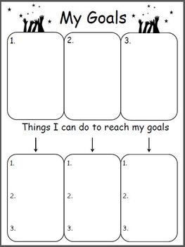 setting life goals template - good morning ms williams the teacher treasury