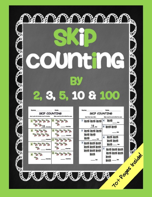 skip counting packet 2s 3s 5s 10s and 100s worksheet printables. Black Bedroom Furniture Sets. Home Design Ideas
